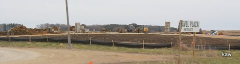 Photo of Lime Springs Beef building site, Nov, 2013.