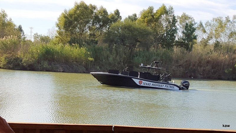 Photo of Texas Highway Patrol boat. Who will they wish a Merry Christmas?