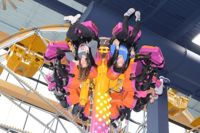 Photo of upside down ride, one of three things learned about while on vacation.